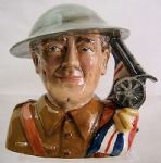 Bairstow Manor - The British Tommy - Veteran of  WWI - Toby Jug - SOLD